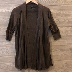 Express Brown 3/4 Sleeve Cardigan